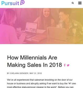 Richard Moore Mentioned in Pursuit: How Millennials Are Making Sales In 2018